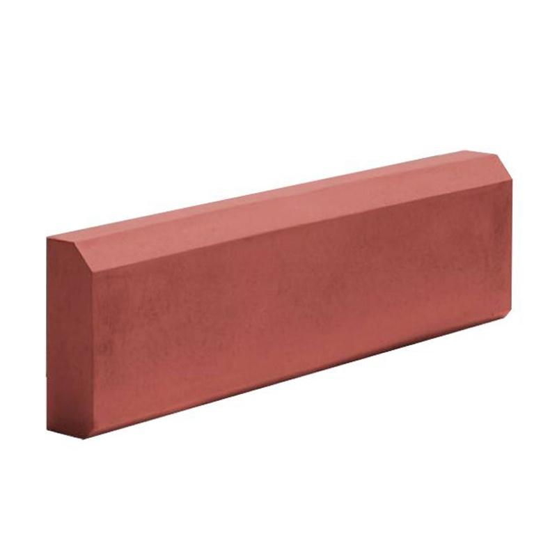 Бордюр тротуарный 500x210x70 мм красный