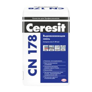 Легковыравнивающаяся смесь Церезит CN178, 25 кг