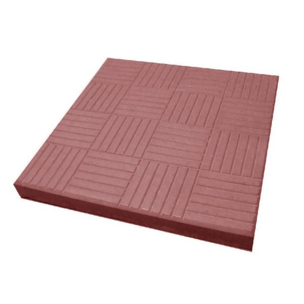 Тротуарная плитка Паркет 300x300 мм красная