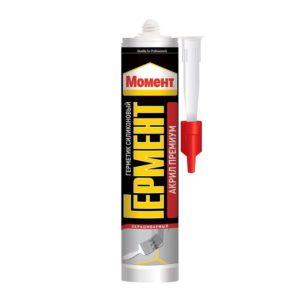 Герметик Момент Гермент акриловый Премиум, морозостойкий, белый (420 мл)