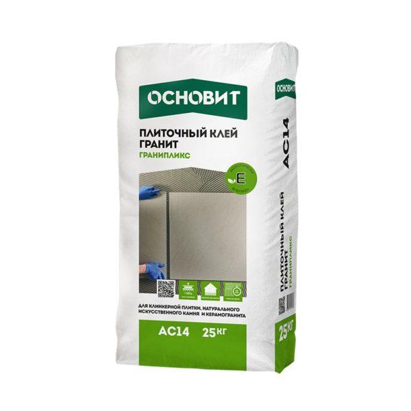 Клей для плитки Гранипликс AC14 (Т-14) цементный, 25 кг