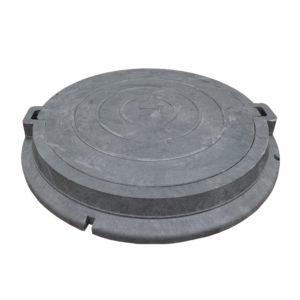 Люк полимерно-песчаный легкий черный 750х550х105 мм