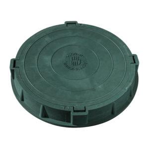 Люк полимерно-песчаный легкий зеленый 750х550х105 мм