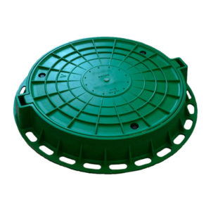 Люк полимерно-песчаный средний, зеленый