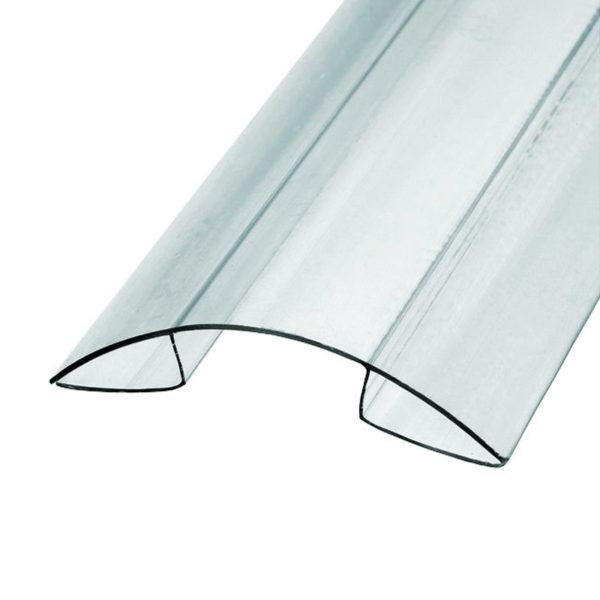 Профиль коньковый для поликарбоната 04-06x6000 мм б/цв.