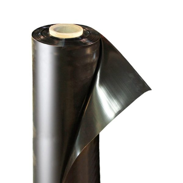 Пленка полиэтиленовая черная 120 мкм ширина 3 м / рукав 1,5 м (1 м)
