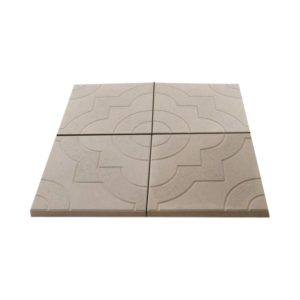 Тротуарная плитка Фантазия 300x300 мм серая