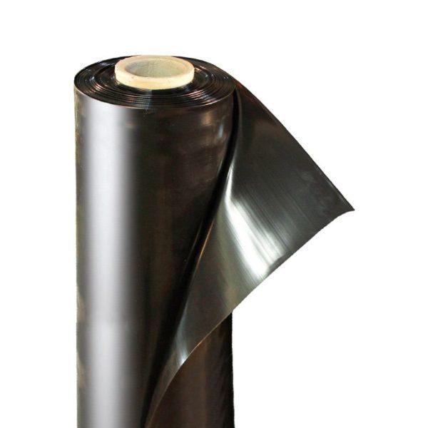 Пленка полиэтиленовая черная 80 мкм ширина 3 м / рукав 1,5 м (1 м)