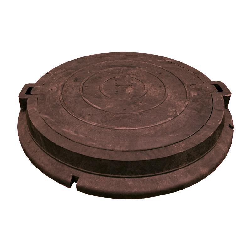Люк полимерно-песчаный легкий красно-коричневый 750х550х105 мм