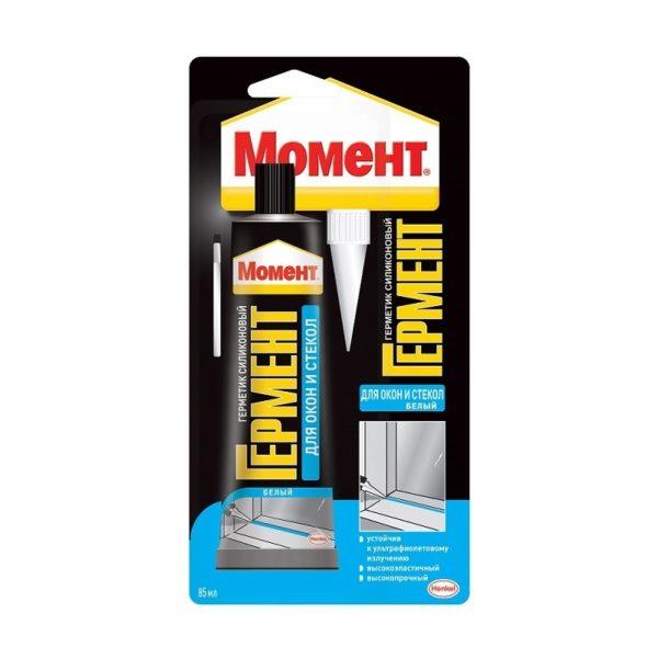 Герметик Момент Гермент силикон. для окон и стекол, прозрач. (85 мл)
