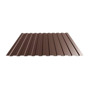 Профнастил С-8 (RAL 8017) корич. шоколад 1200x2000x0,4 мм (2,4 м2)