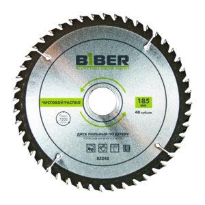 Диск пильный Biber 85248 185х30-20-16 z40, чистый рез