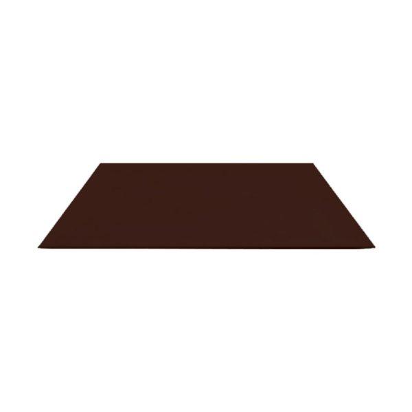 Лист глад. оцинк. (RAL 8017) корич. шоколад 1250x2000x0,5 мм (2,5 м2)