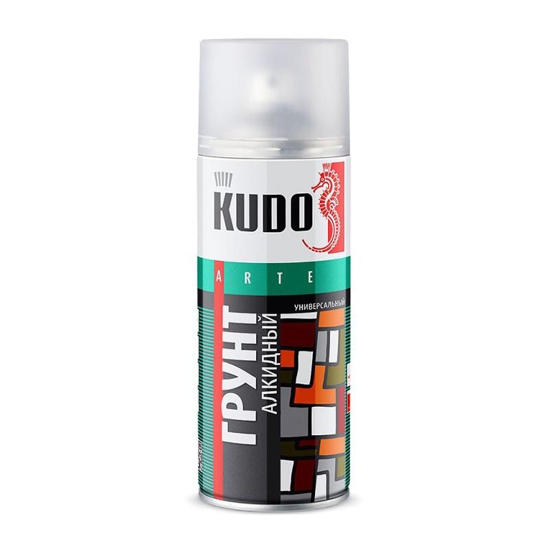 Грунт аэрозольный алкидный универсальный KU-2002 красно-коричневый (0,52 л)