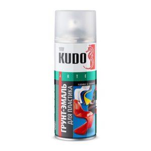 Грунт-эмаль аэрозольная для пластика KU-6002 черная (0,52 л)