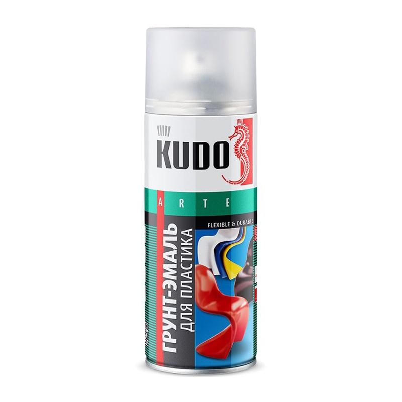 Грунт-эмаль аэрозольная для пластика KU-6003 белая (0,52 л)