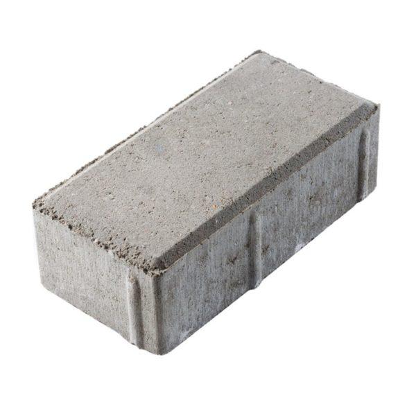 Тротуарная плитка Брусчатка 200х100х60мм серый