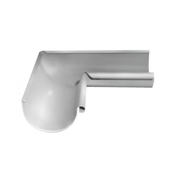 Угол желоба внутренний, металл, d=125 мм, белый
