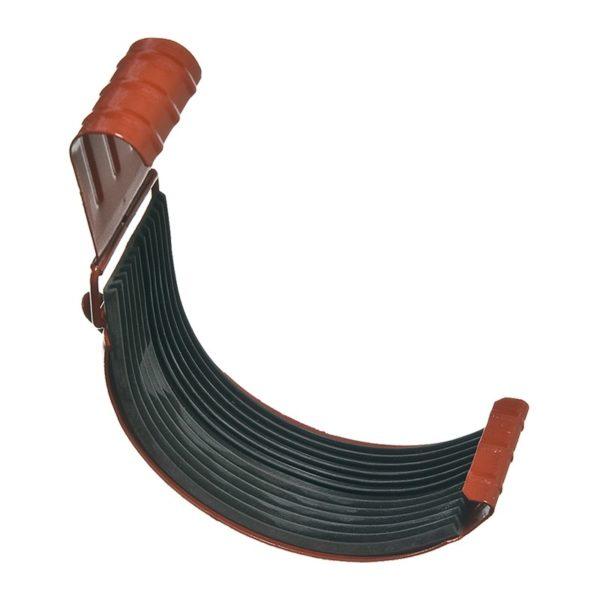 Соединитель желоба, металл, d=125 мм, коричневый