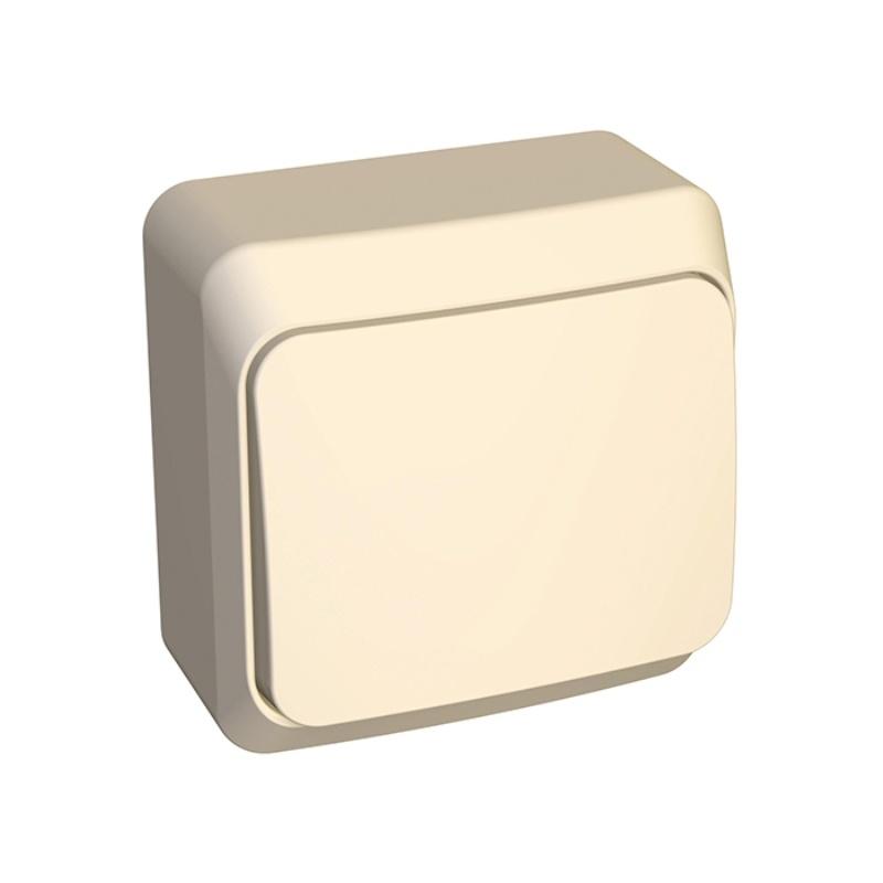 Выключатель о/у Makel 45201, 1 клавиша, 10А, 230В, IP20, кремовый