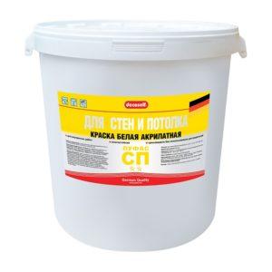 Краска в/д акрилатная для стен и потолков Decoself (40 кг)