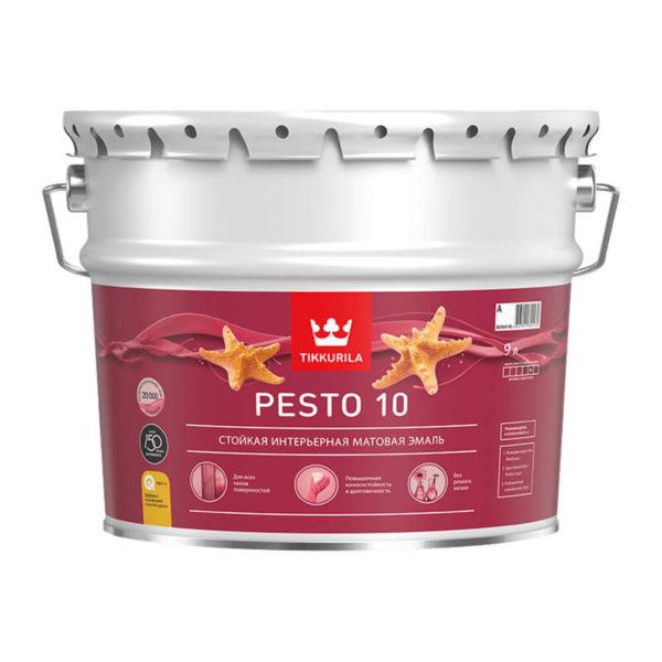Краска алкидная Pesto 10 A универсальная матовая (9 л)