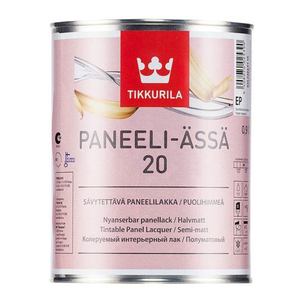 Лак для стен и потолков Panelli-Assa 20 полуматовый (0,9 л)