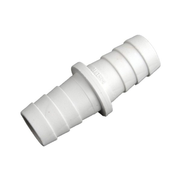 Соединитель сливных шлангов для стиральных машин d=22x22 мм, пластик
