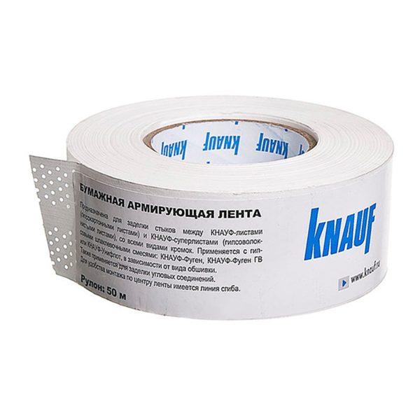 Лента бумажная для швов ГКЛ Кнауф, 50 м