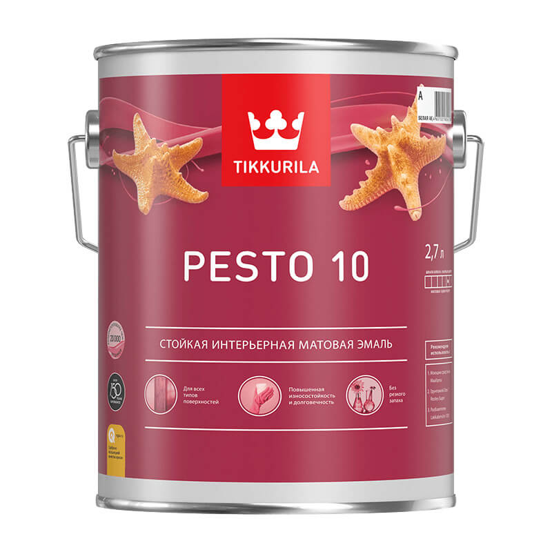 Краска алкидная универсальная Pesto 10 A матовая (2,7 л)