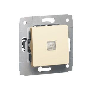 Выключатель в рамку с/у Legrand Valena 695601, 1 клавиша, 10А, 230В, IP20, бежевый