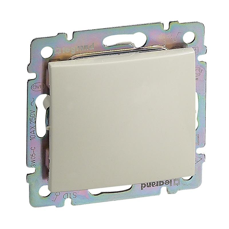 Выключатель в рамку с/у Legrand Valena 695600, 1 клавиша, 10А, 230В, IP20, бежевый