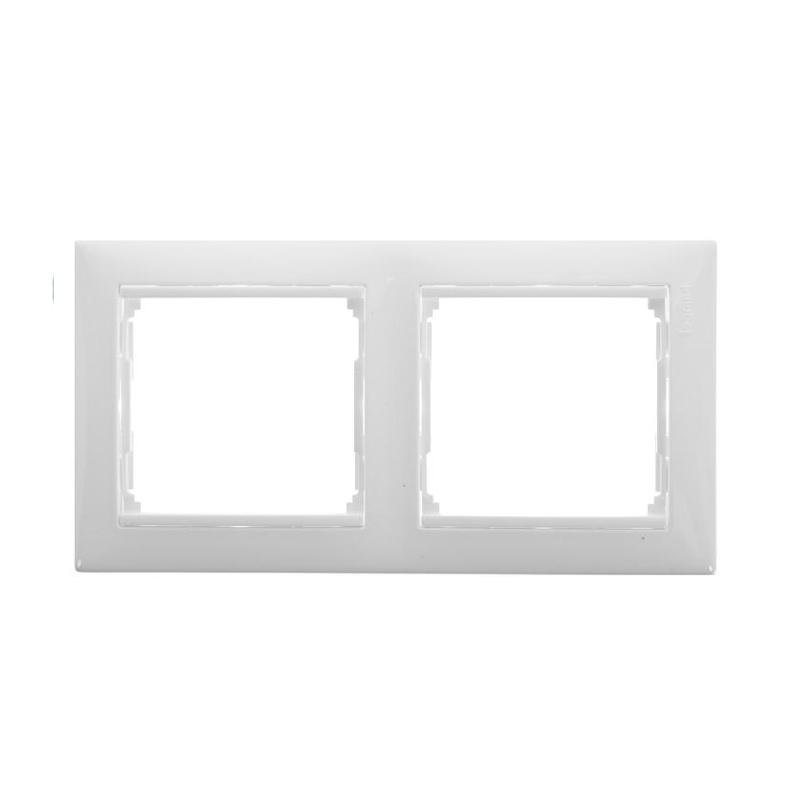 Рамка 2-х постовая горизонтальная Legrand Valena 694241 IP20, белая