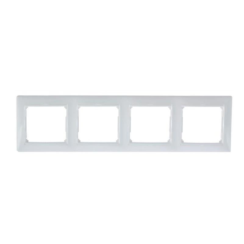 Рамка 4-х постовая горизонтальная Legrand Valena 694255 IP20, белая