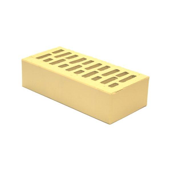 Кирпич керамический пустотелый лицевой одинарный, М-150, желтый / сахара