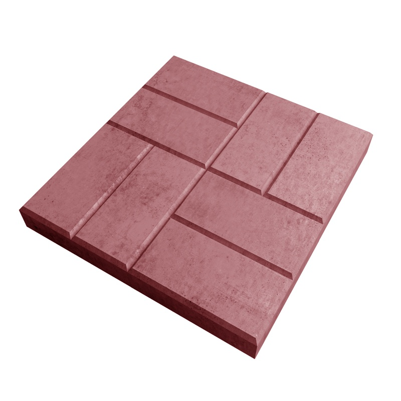 Тротуарная плитка 8-кирпичей 400x400 мм красная