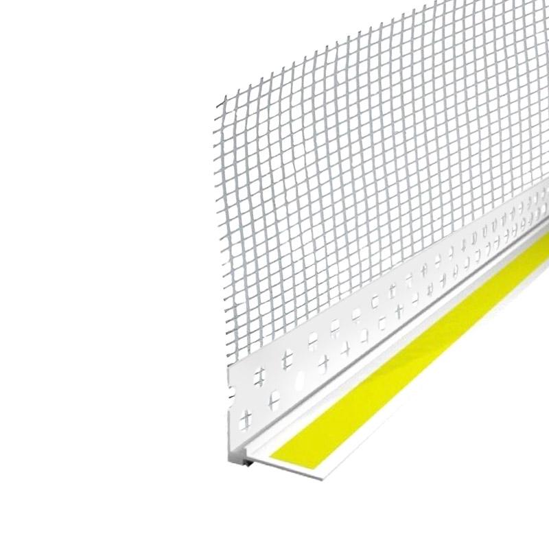 Профиль ПВХ примыкающий оконный с сеткой 6 мм (2,4 м)