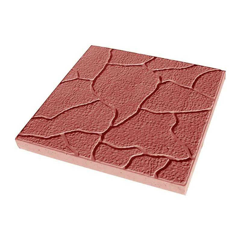 Тротуарная плитка Тучка 300x300 мм красная