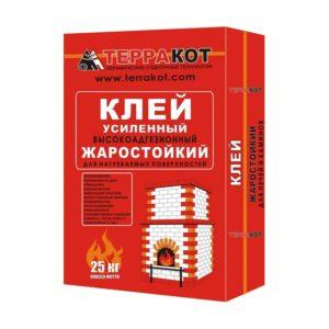 Клей для печной плитки жаростойкий Терракот, 25 кг