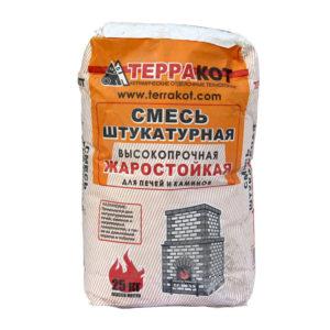 Штукатурка жаростойкая глино-шамотная Терракот, 25 кг