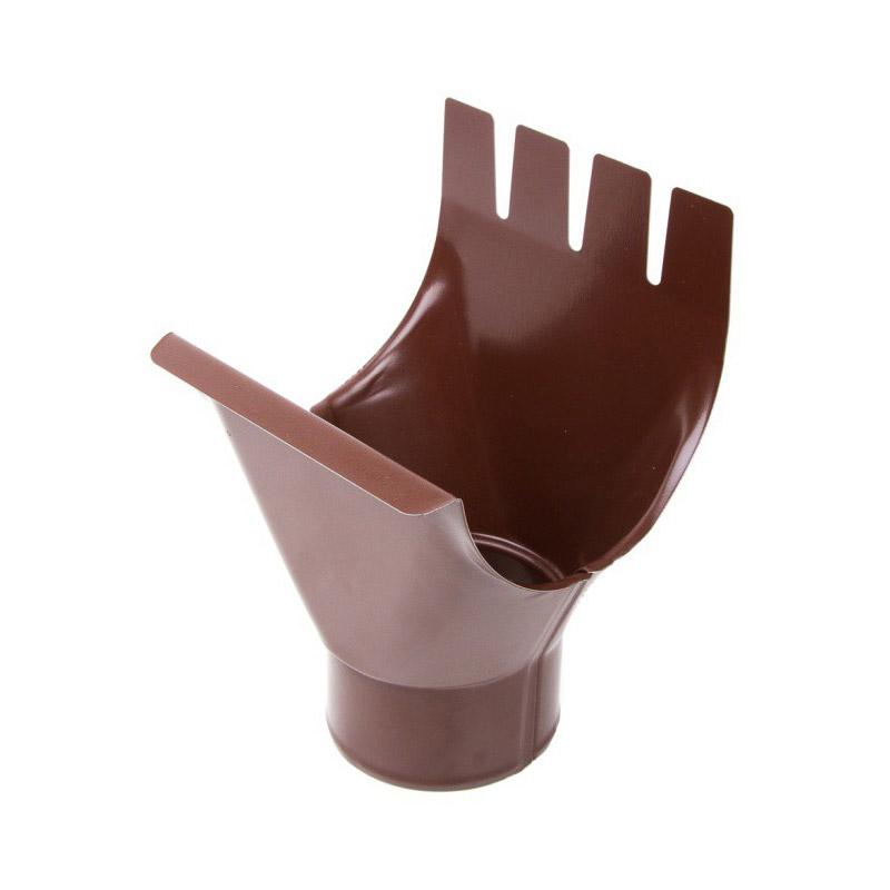 Воронка выпускная, металл, d=125/90 мм, коричневый