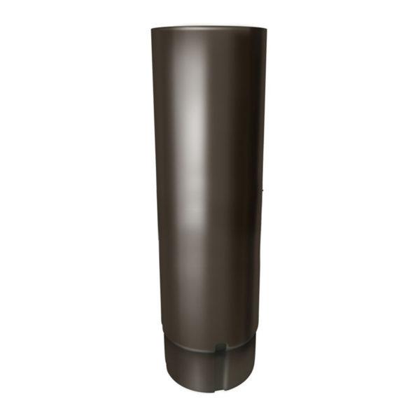 Труба соединительная, металл, d=90мм, коричневый, 1 м