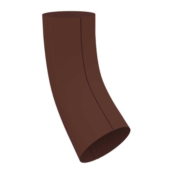 Колено трубы, металл, d=90 мм, коричневый
