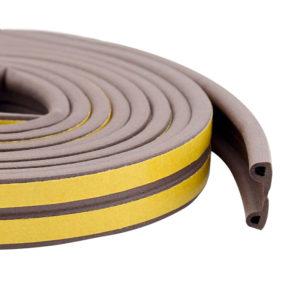 Уплотнитель тип P коричневый, сдвоенный, 1 пог.м