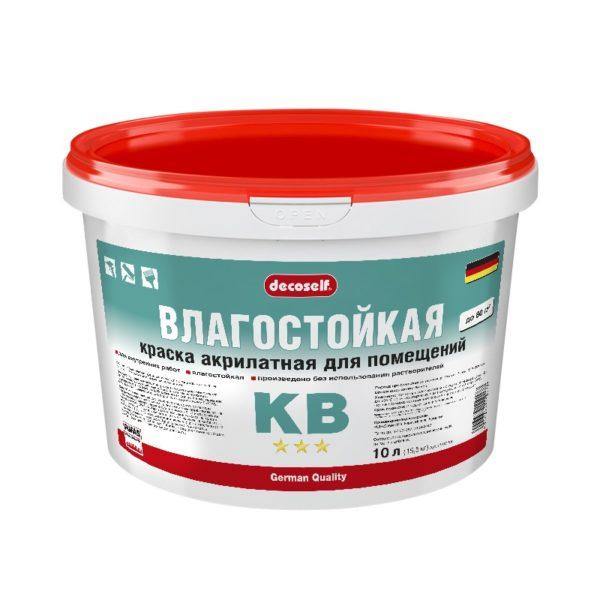 Краска в/д для стен и потолков Decoself влагостойкая (10 л)