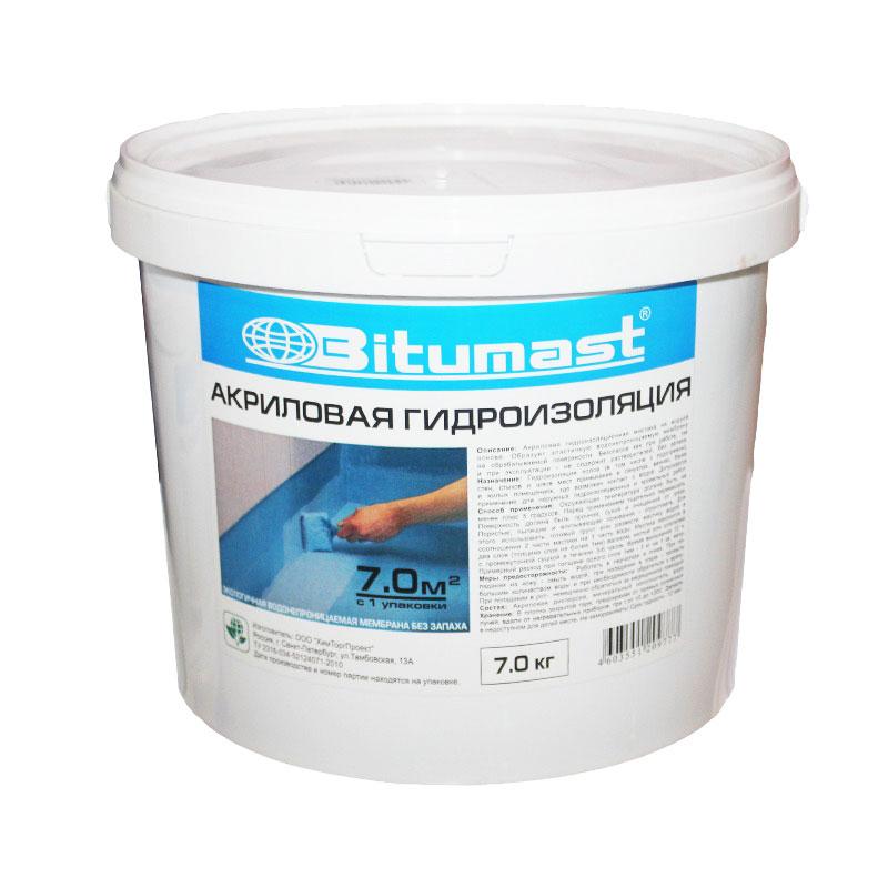 Акриловая гидроизоляция Битумаст, 7 кг