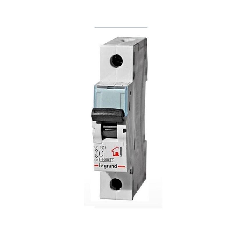 Автоматический выключатель Legrand TX3 6кА характеристика С 10А 1П