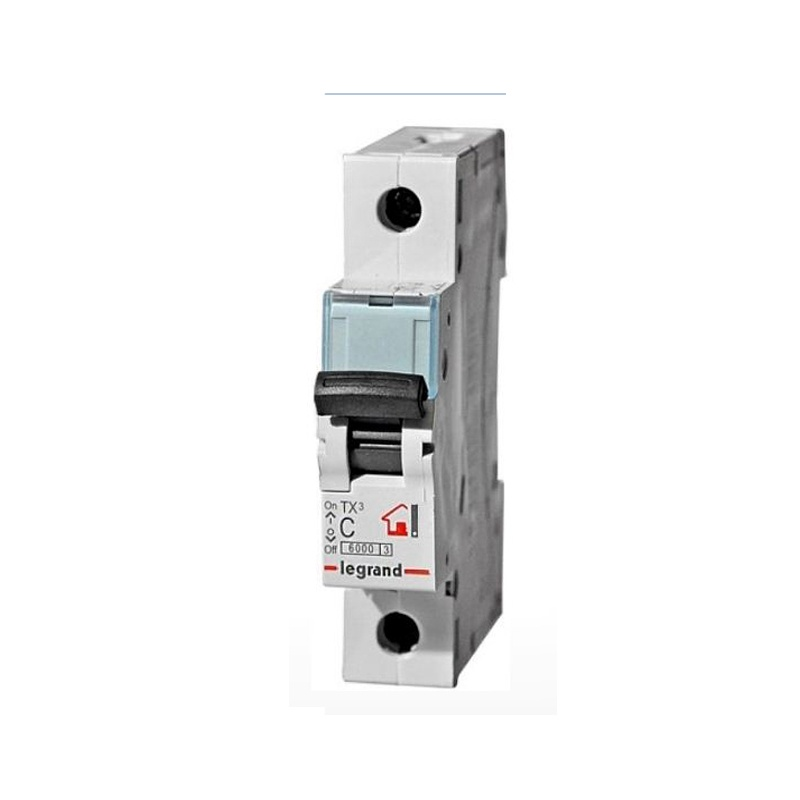 Автоматический выключатель Legrand TX3 6кА характеристика С 16А 1П