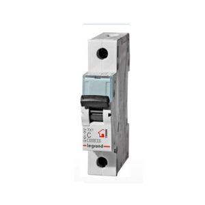 Автоматический выключатель Legrand TX3 6кА характеристика С 25А 1П