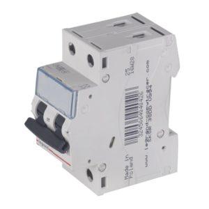 Автоматический выключатель Legrand TX3 6кА характеристика С 16А 2П(1P+N)